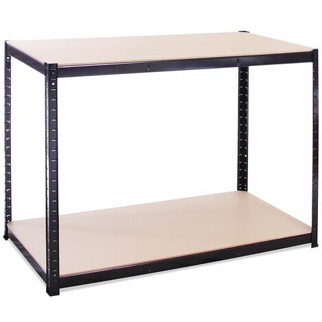 Black Storage Workbench 90 x 120 x 60cm, 300KG Per Shelf Capacity