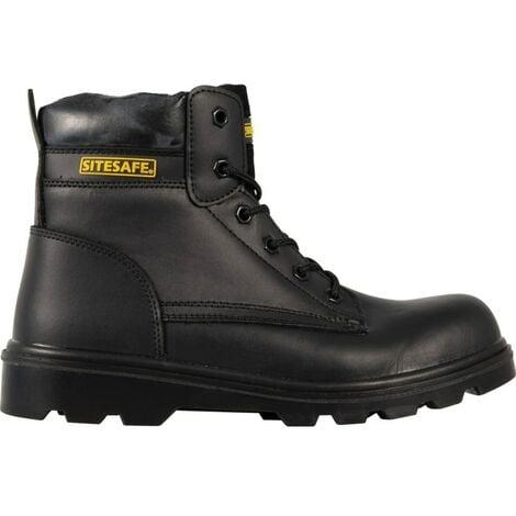 Black Trucker Safety Boots