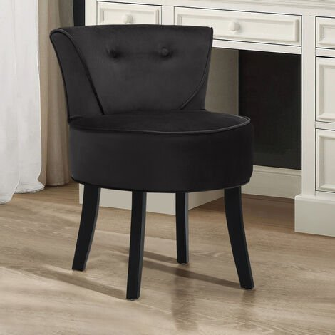 """main image of """"Vanity Dressing Table Stool Wooden Leg Makeup Chair Padded Seat Home Furniture"""""""