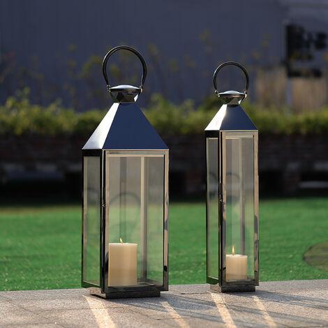 """main image of """"Black Vintage Candle Lanterns Holder Garden Hanging Lantern"""""""