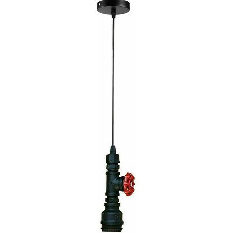 Black Vintage Steampunk Industrial Water Pipe Pendant Light