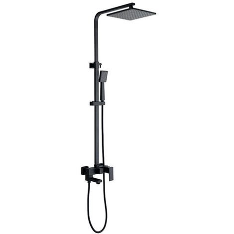 Black wall-mounted bath-shower column - Sirius