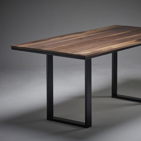 Black Walnut Dining Table 1800mm x 900mm O Legs 50cm wide