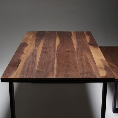 Black Walnut Dining Table 1800mm x 900mm O Legs 71cm wide