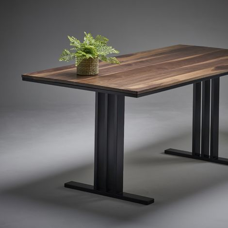 Black Walnut Dining Table 2000mm x 800mm I Beam Legs