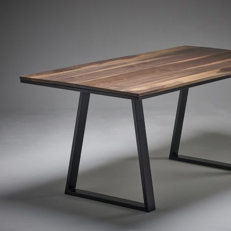 Black Walnut Dining Table 2000mm x 800mm Trapezium Legs