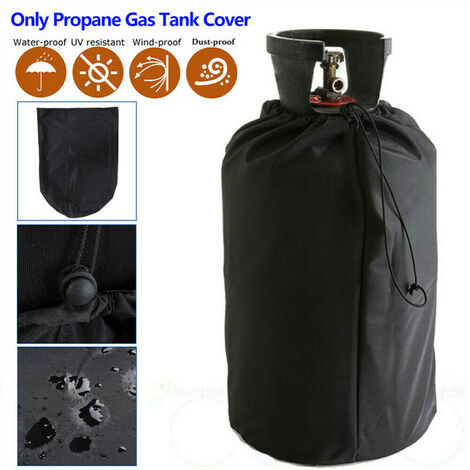"""main image of """"Black Waterproof Cover Protective Dust-proof Cover for BBQ Barbecue Gas Bottles"""""""