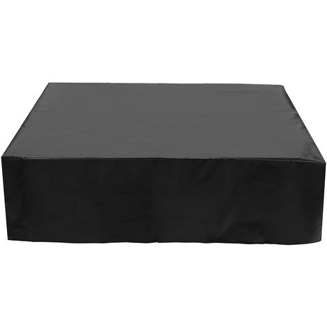 Black Waterproof Garden Patio Furniture Cover Rattan Table Protector 280X280X 80cm