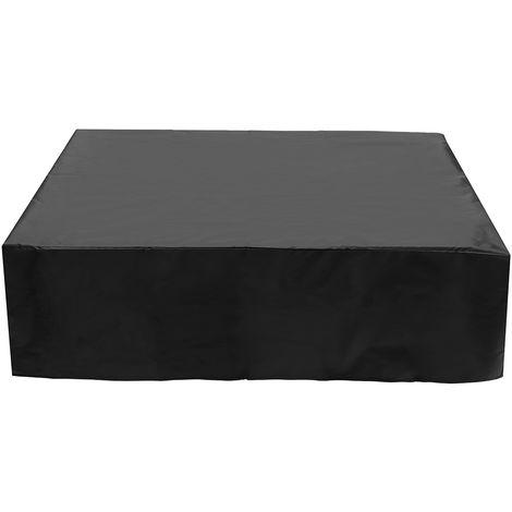 Black Waterproof Garden Patio Furniture Cover Rattan Table Protector 280X280X 80cm Hasaki