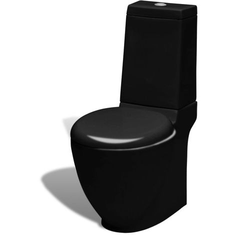 Black WC Ceramic Toilet VD03838