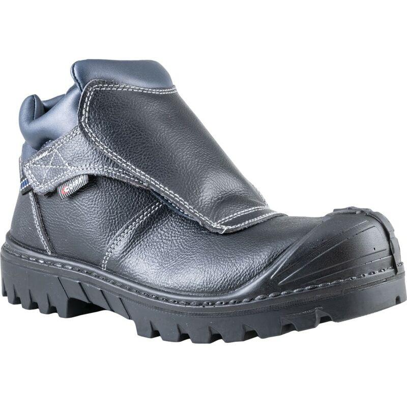 Image of Cofra Black Welder BIS UK S3 HRO SRC Safety Boots - Size 8