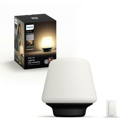 Black wellness connected table lamp 4080130p7