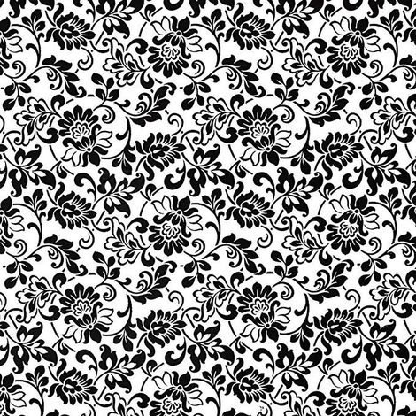 Black/ White Damask Fablon Self Adhesive Film
