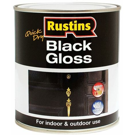 Black & White Gloss Paint Water Based