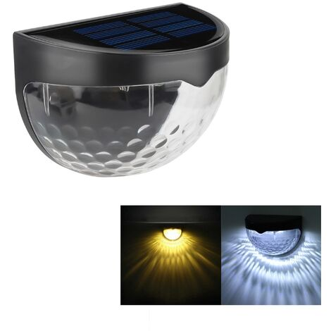 Black with Warm White Light Waterproof LED Solar Wall Light