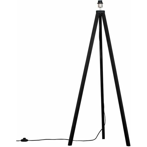 Black Wood Tripod Floor Lamp Base
