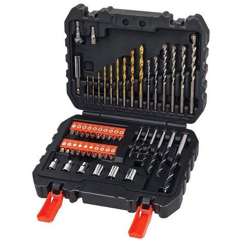 """main image of """"BLACK&DECKER A7188-XJ - Juego de 50 piezas para atornillar y taladrar con brocas """"Titanio"""""""""""