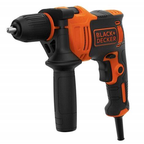 BLACK&DECKER BEH550-QS - Taladro eléctrico percutor 550W 13mm 2.800 rpm 17Nm 47.600 ipm