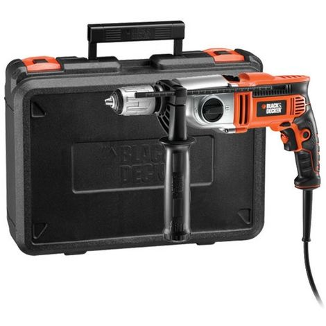 BLACK&DECKER KR7532K-QS - Taladro eléctrico 750W portabrocas sin llave 13mm con maletín