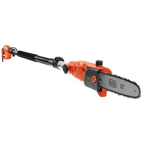 BLACK&DECKER PS7525-QS - Motosierra eléctrica de pértiga 800W longitud de espada 25cm.
