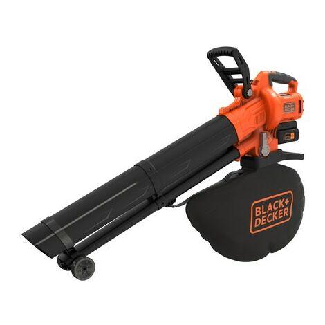 Black&Decker Soffiatore - Aspiratore - Trituratore Batteria a Litio 36V Brushless