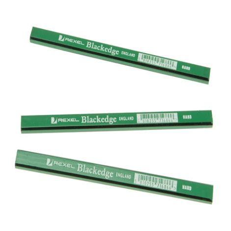 Blackedge Carpenters Pencils - Green/Hard