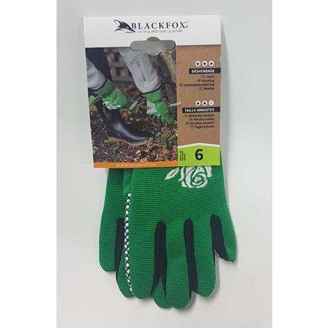 BLACKFOX® Handschuhe GRIPPER grün Größe 6