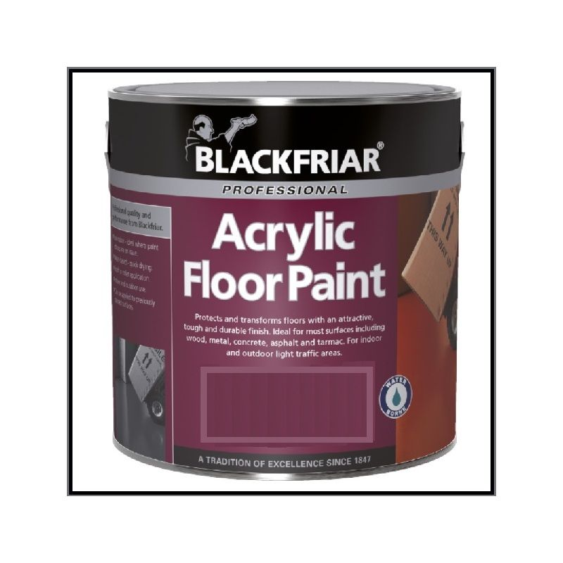 Image of Acrylic Floor Paint - Hard Wearing - Mid Grey - 2.5 Litre - Blackfriar