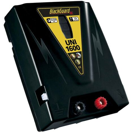 BlackGuard Électrificateur de clôture UNI 1600 avec protection contre les décharges profondes - batterie 12V / secteur 230 V
