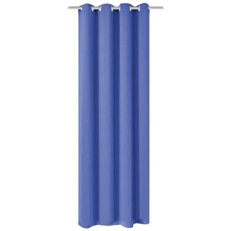 Blackout Curtain with Metal Eyelets 270x245 cm Blue