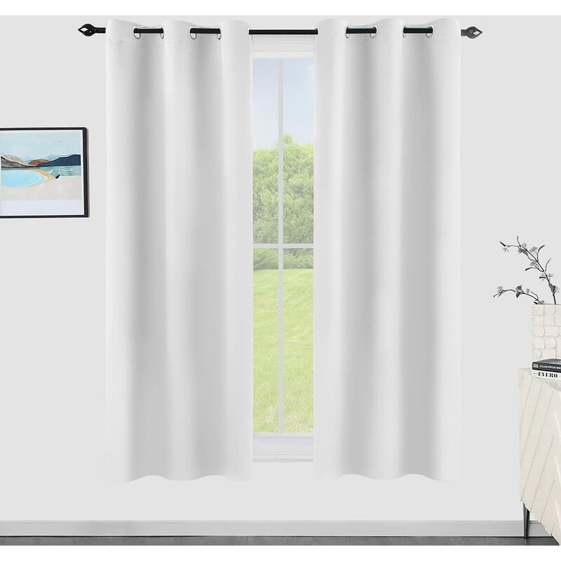 Blackout Curtains for Bedroom, Thermal Insulated and Noise Reducing Darkening Window Drapes Grommet Top for Living Room and Kitchen 2 Panels (42 x 63