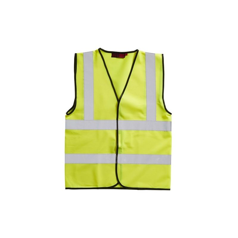 Image of Adults Hi-Vis Sleeveless Waistcoat (Xlarge) (Yellow) - Blackrock