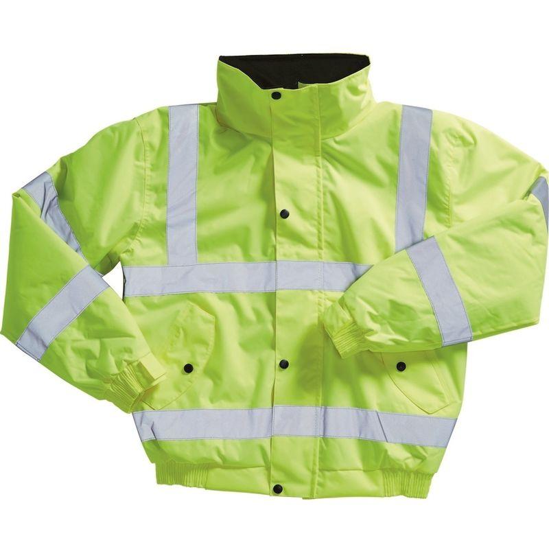 Image of Adults Hi-Viz Bomber Jacket (XL) (Yellow) - Blackrock