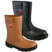 Blackrock Fur Lined Work Wear Safety Rigger Boot - Black