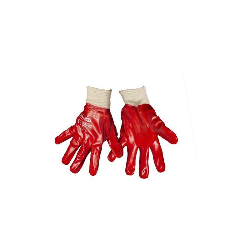 Image of Blackrock Mens General PVC Knitwrist Gloves (One Size) (Red)