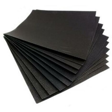 Blackspur - Grit Sandpaper Set - Wet and Dry Abbrasive - Medium - 10pc