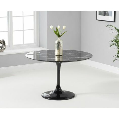 """main image of """"Blakely 120cm Round Black Dining Table"""""""