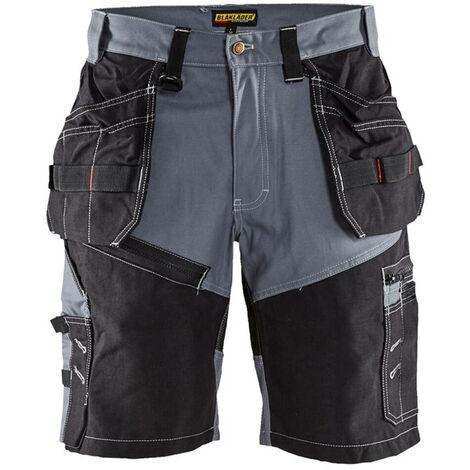 BLAKLADER Short X1500 coton gris/noir - 1502 (42)