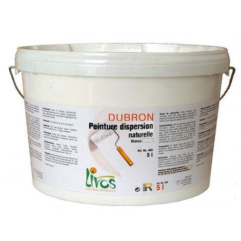 blanc - 10L - Peinture naturelle, mate, blanche, murs et plafonds intérieur Dubron (1L/8m2) Livos