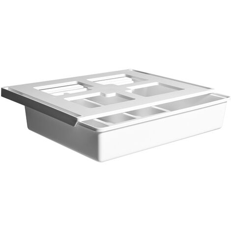 Blanc 114975 Bo?te de rangement ¨¤ tiroirs sous le bureau avec cloisons