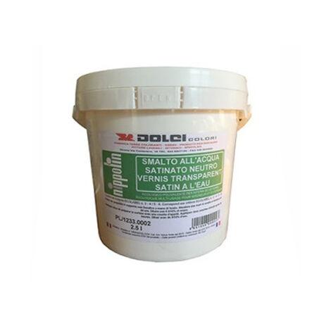 blanc - 15L - Peinture naturelle satinée, blanche, murs et bois int/ext lessivable (1L/ 11m2) DOLCI