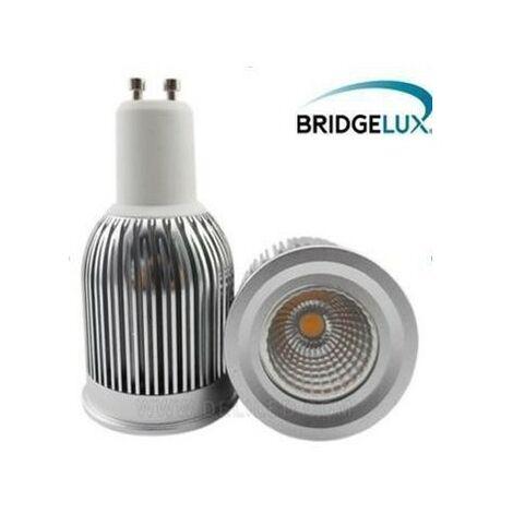 Blanc Chaud - Ampoule Spot LED-GU10-PAR16-7W-COB BRIDGELUX - Blanc Chaud