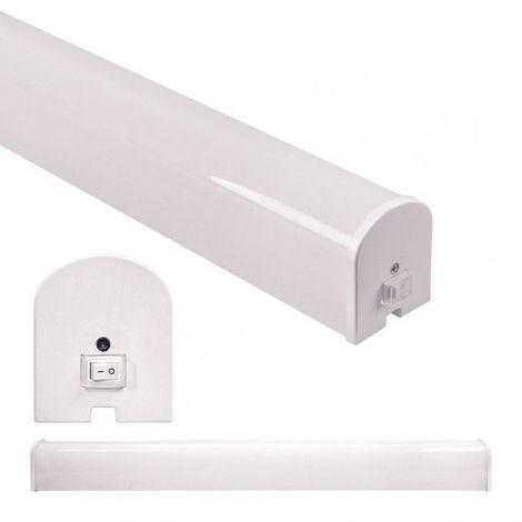 Blanc Chaud - Applique de salle de bain IP44 - avec interrupteur - 8W - Blanc Chaud