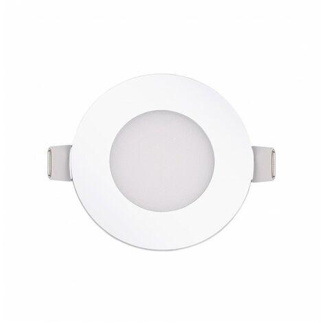 Blanc Chaud - Encastrable LED extra-plat - 3W - Rond - D85mm - DeliTech® - Blanc Chaud