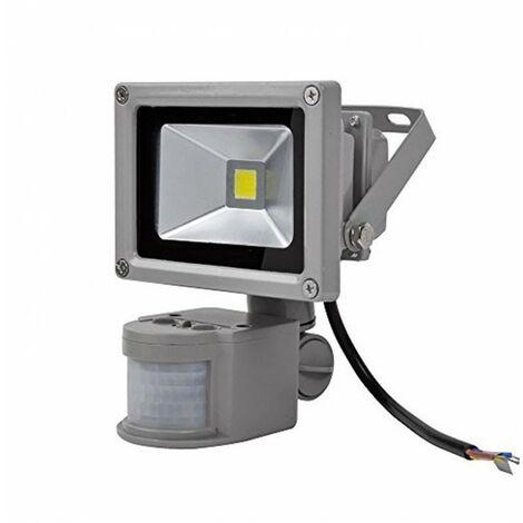 Blanc Froid - Projecteur LED 240V avec Détecteur de Mouvement - 10W - COB Bridgelux - Blanc Froid
