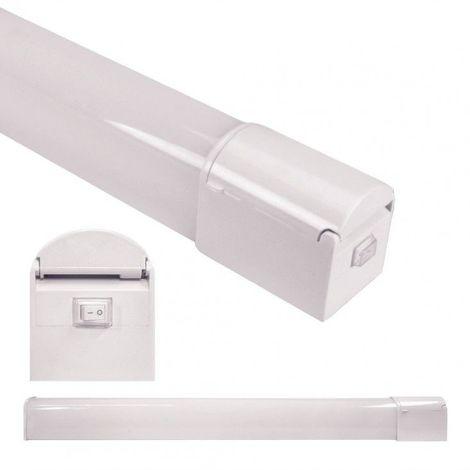 Blanc Neutre - Applique de salle de bain IP44 - avec interrupteur et prise - 8W - Blanc Neutre