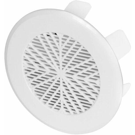 Blanc Plastique 99-124mm Évent Douane Diamètre Fin Ventilation Grille
