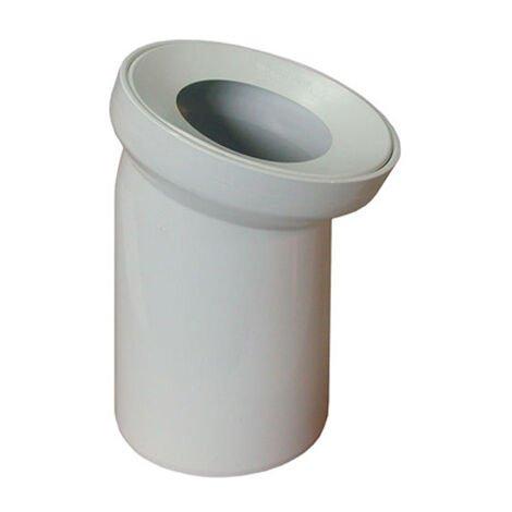 Blanc salle de bains wc tuyau d'eau de toilette raccord de sortie 110mm 22 ° coude à angle