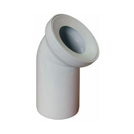 Blanc salle de bains wc tuyau d'eau de toilette raccord de sortie 110mm 45 ° coude à angle