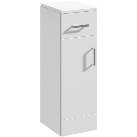 Blanco High Gloss White 250mm x 335mm Bathroom Cupboard